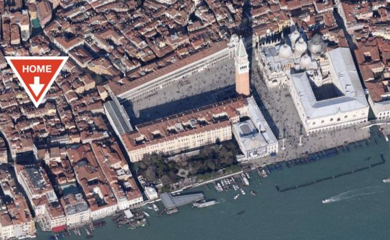 Saint Mark Square Venice Apartment Location