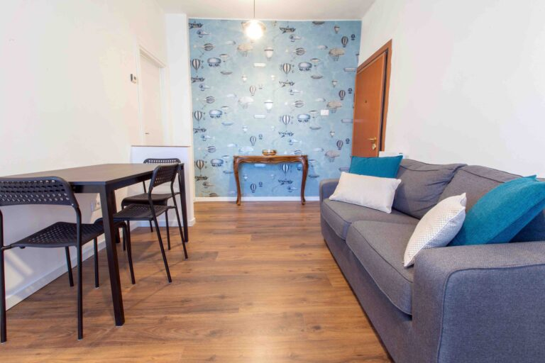 Ca Zulian Venice Apartment with canal view fornasetti wallpaper macchine volanti
