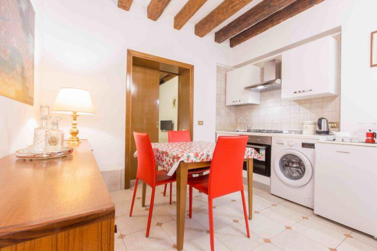 Saint Mark apartment Venice living kitchen