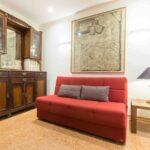 Venice apartment with terrace kilim sofa